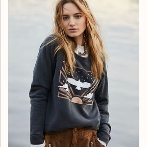 Free People Dream Flight Pullover Crewneck NWT